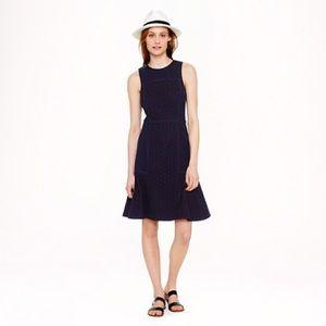 JCREW Pleated flare dress 0 black